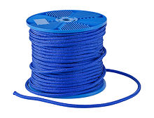 Double braid rope d10mm, L80m, blue, KOT