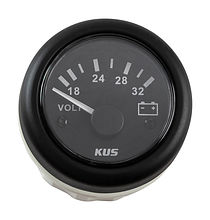 Voltmeter 18-32V, Black/Black