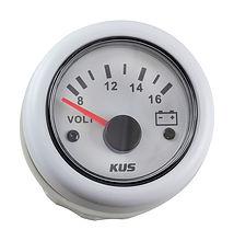 Voltmeter 8-16V, White