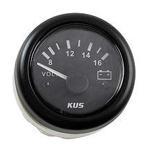 Voltmeter 8-16V, Black