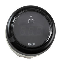 Voltmeter 8-32V, Black/Black