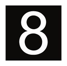 Number sign, 8 white