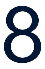 Number sign 8, navy blue